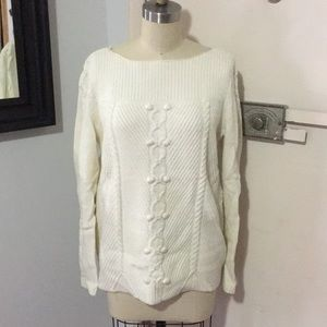 Talbots Cotton Wool Cable Sweater